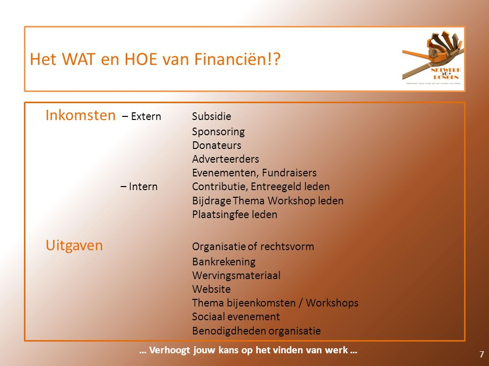 Het WAT en HOE van Financiën!