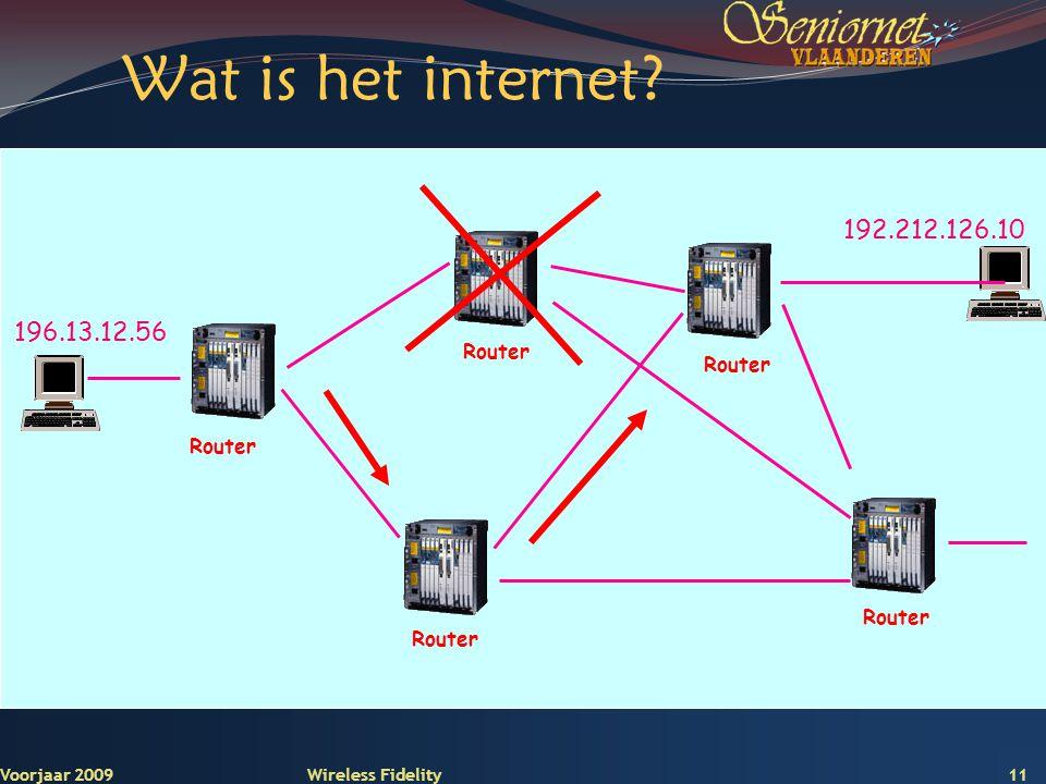 Wat is het internet 192.212.126.10 196.13.12.56 Router Voorjaar 2009