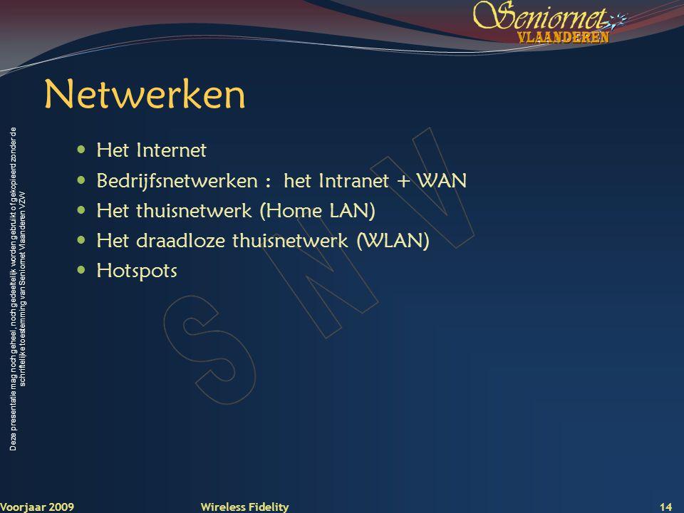 Netwerken Het Internet Bedrijfsnetwerken : het Intranet + WAN