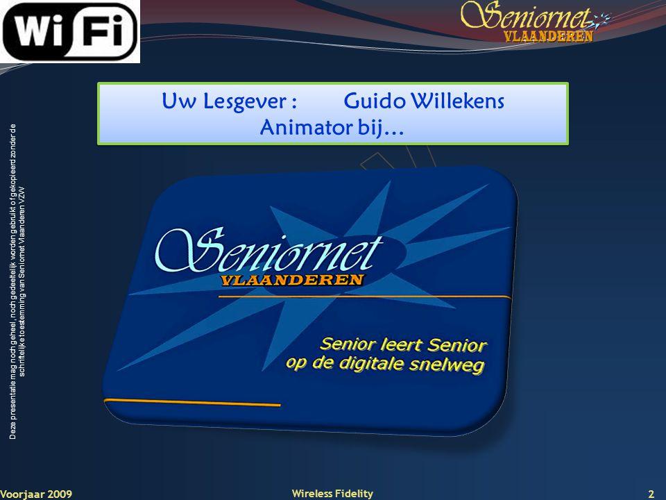 Uw Lesgever : Guido Willekens
