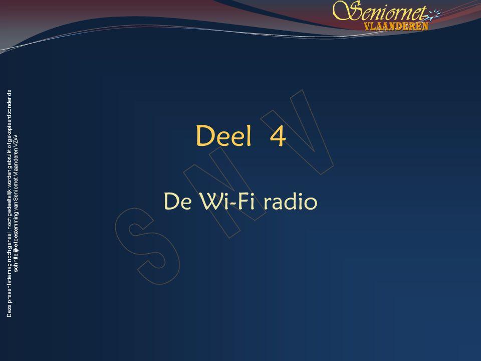 Deel 4 De Wi-Fi radio