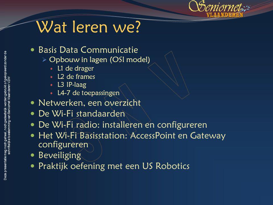 Wat leren we Basis Data Communicatie Netwerken, een overzicht