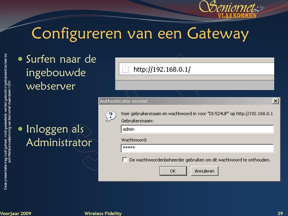Configureren van een Gateway