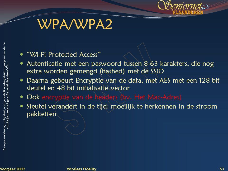 WPA/WPA2 Wi-Fi Protected Access