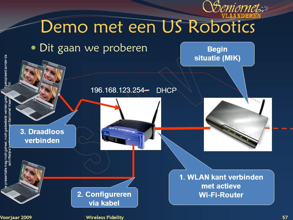 Demo met een US Robotics