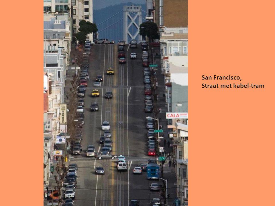 San Francisco, Straat met kabel-tram