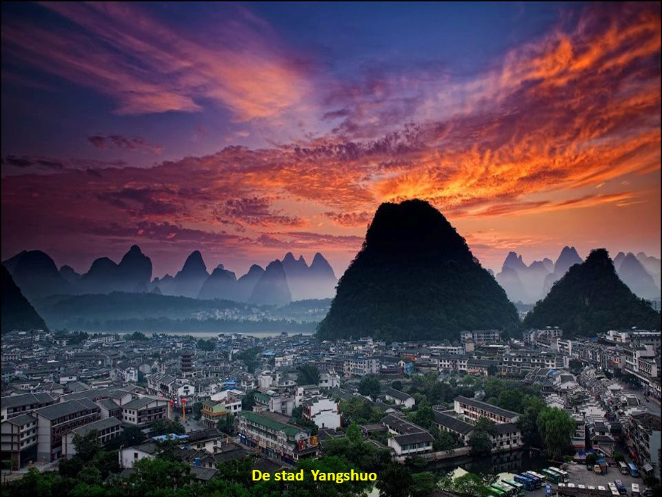 De stad Yangshuo
