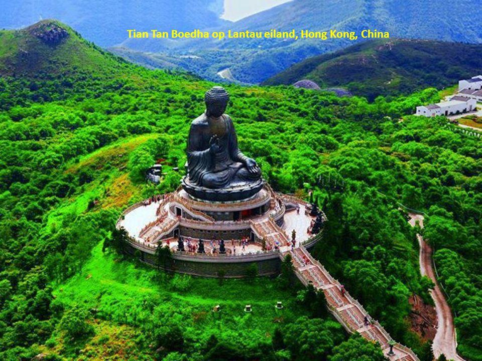 Tian Tan Boedha op Lantau eiland, Hong Kong, China