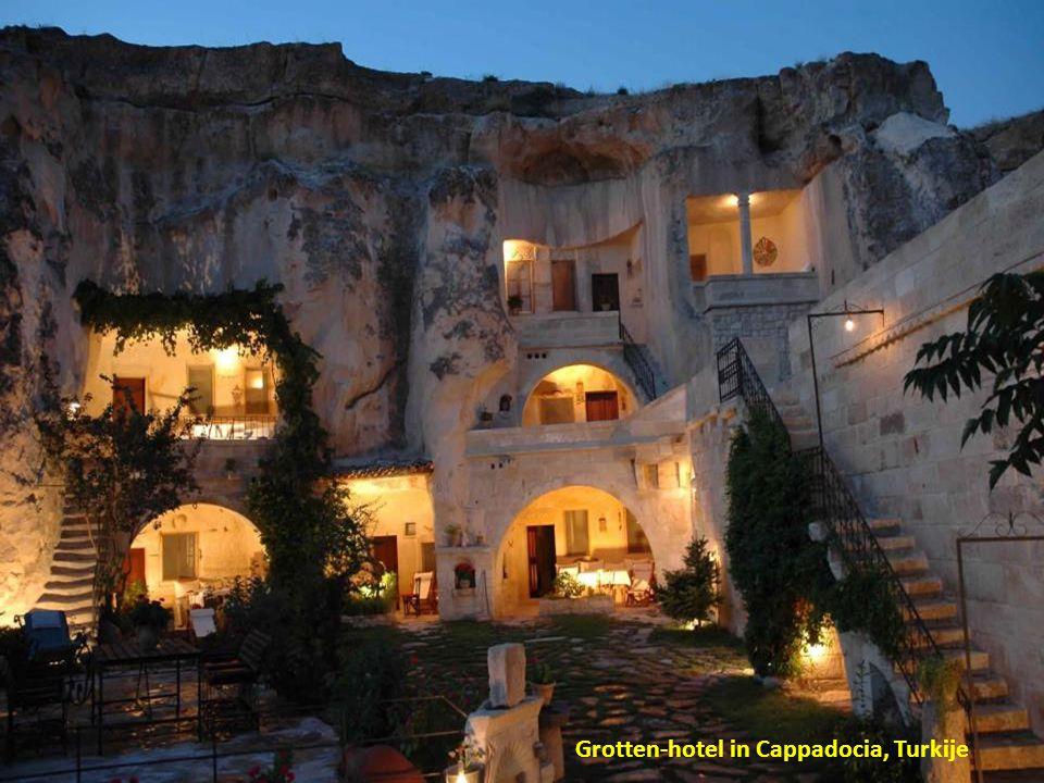 Grotten-hotel in Cappadocia, Turkije