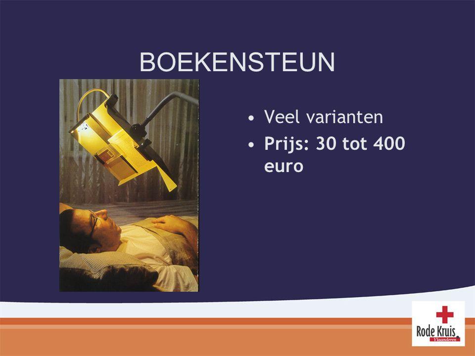 BOEKENSTEUN Veel varianten Prijs: 30 tot 400 euro