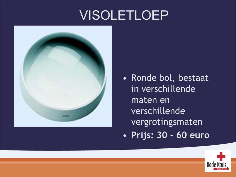 VISOLETLOEP Ronde bol, bestaat in verschillende maten en verschillende vergrotingsmaten.