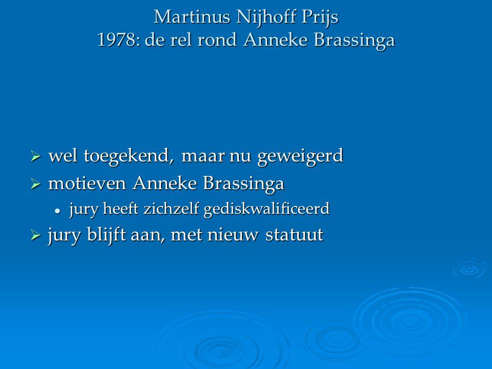 Martinus Nijhoff Prijs 1978: de rel rond Anneke Brassinga