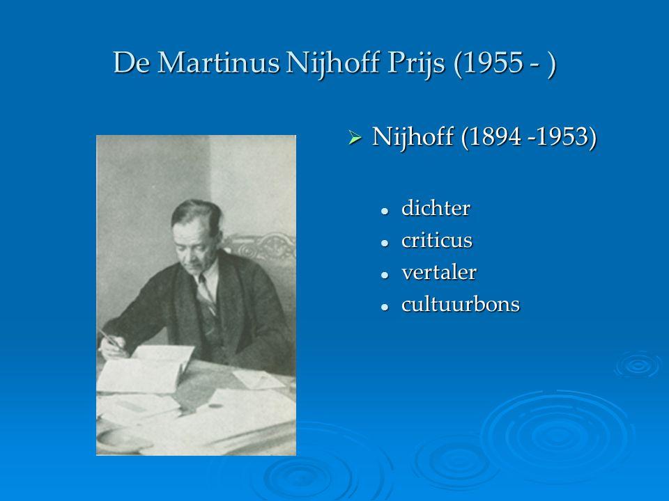 De Martinus Nijhoff Prijs (1955 - )