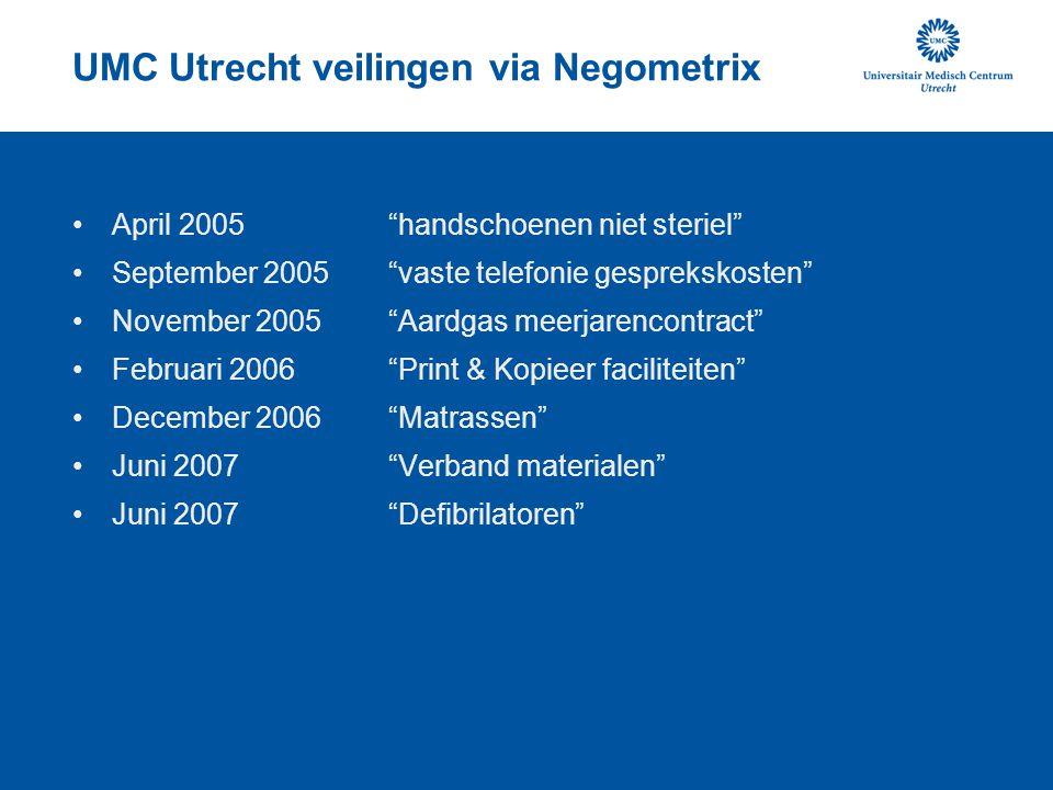 UMC Utrecht veilingen via Negometrix
