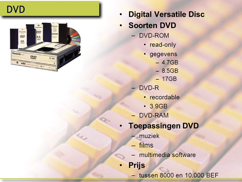 DVD Digital Versatile Disc Soorten DVD Toepassingen DVD Prijs films