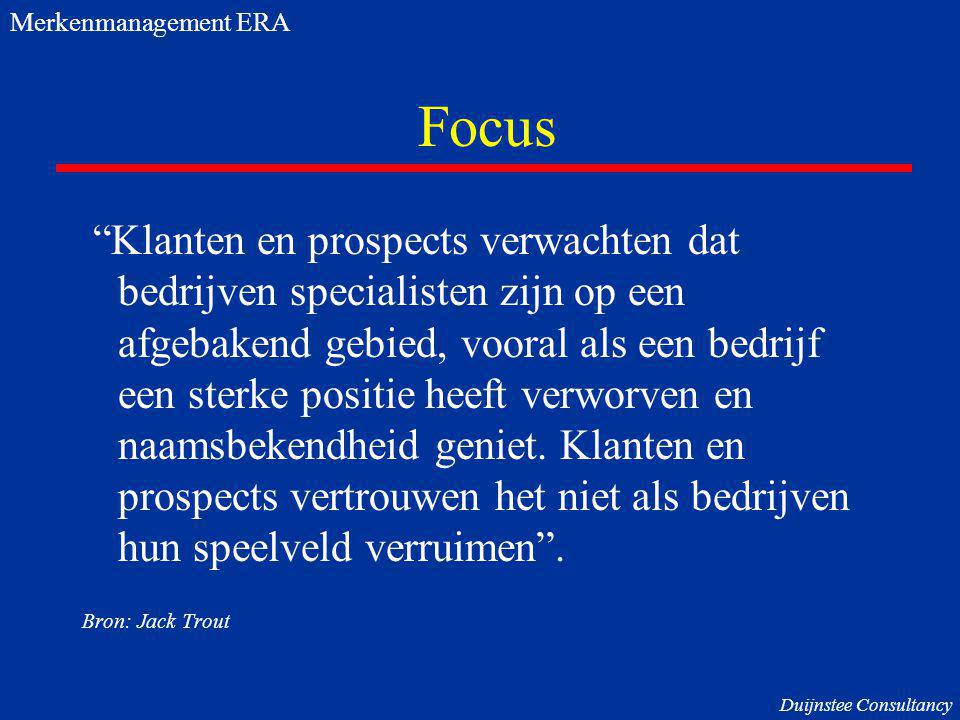 Merkenmanagement ERA Focus.