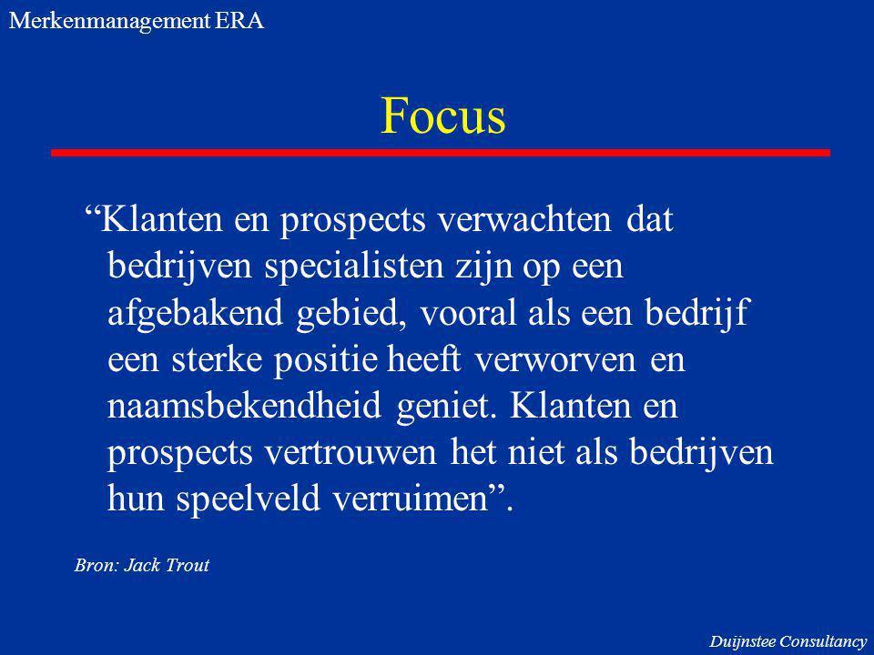 Merkenmanagement ERA Focus.