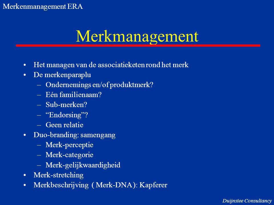Merkmanagement Merkenmanagement ERA