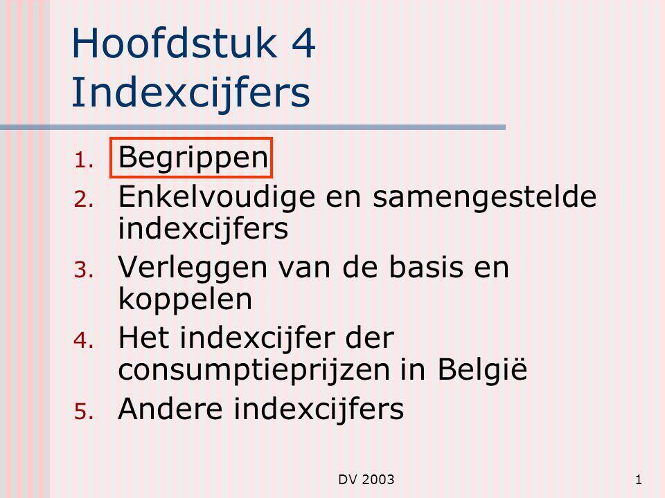 Hoofdstuk 4 Indexcijfers