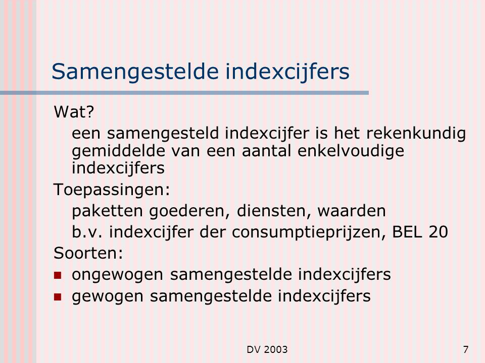 Samengestelde indexcijfers