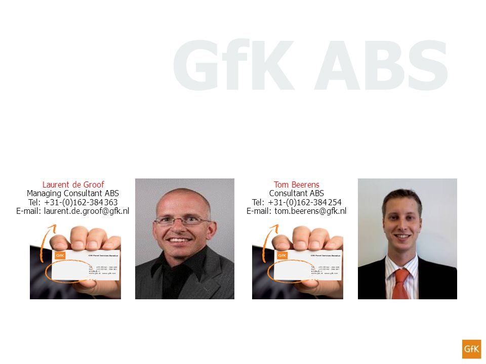 GfK ABS Laurent de Groof Managing Consultant ABS