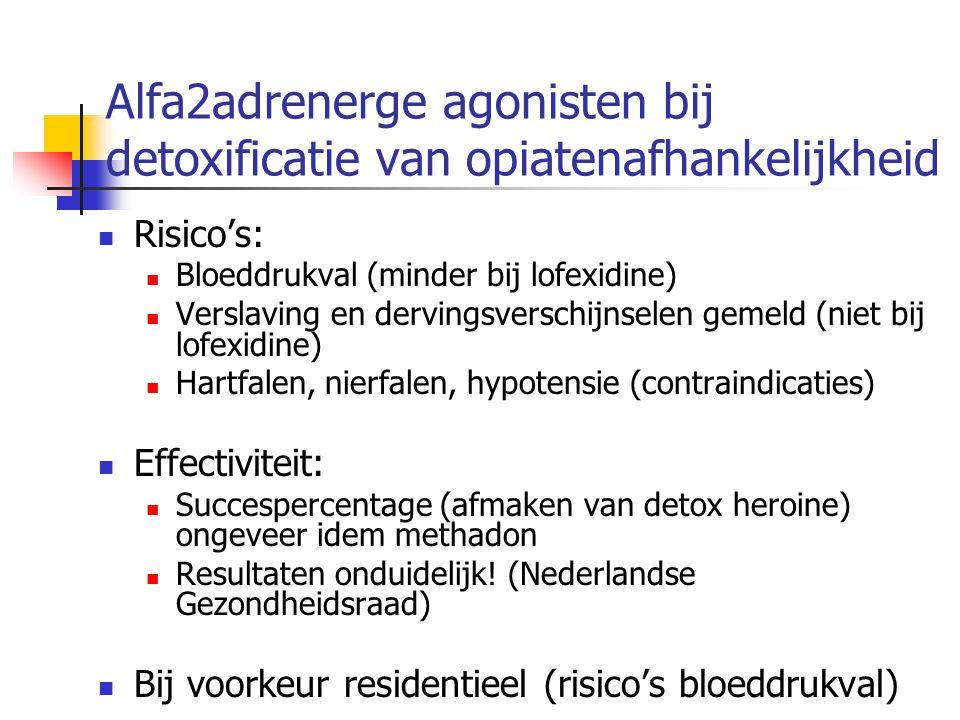 Alfa2adrenerge agonisten bij detoxificatie van opiatenafhankelijkheid