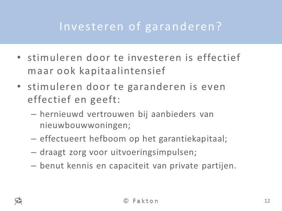 Investeren of garanderen