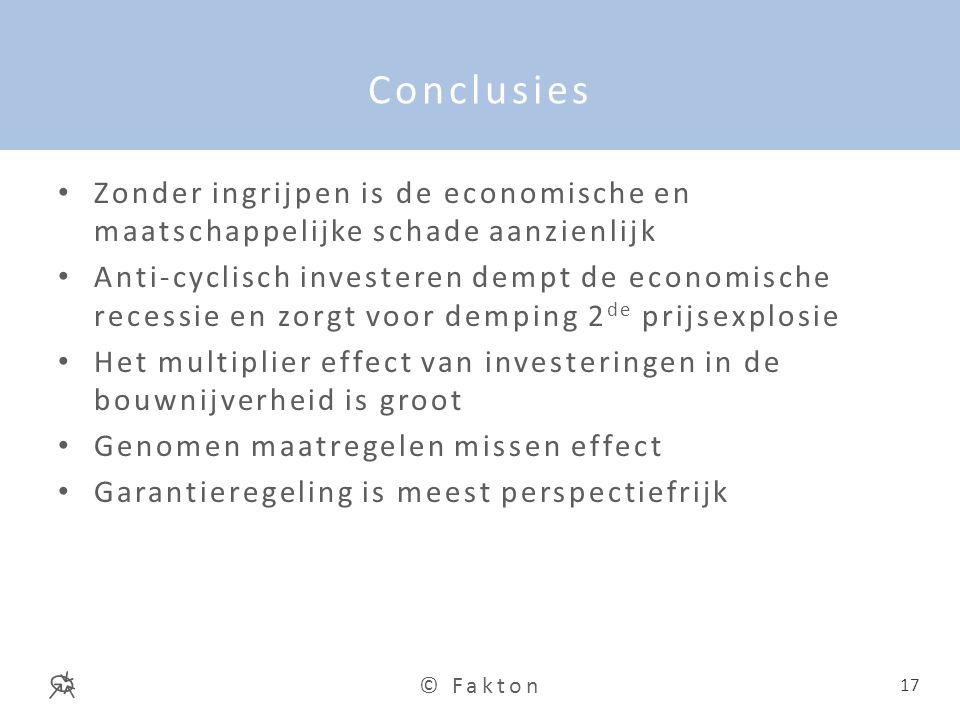 Conclusies Zonder ingrijpen is de economische en maatschappelijke schade aanzienlijk.