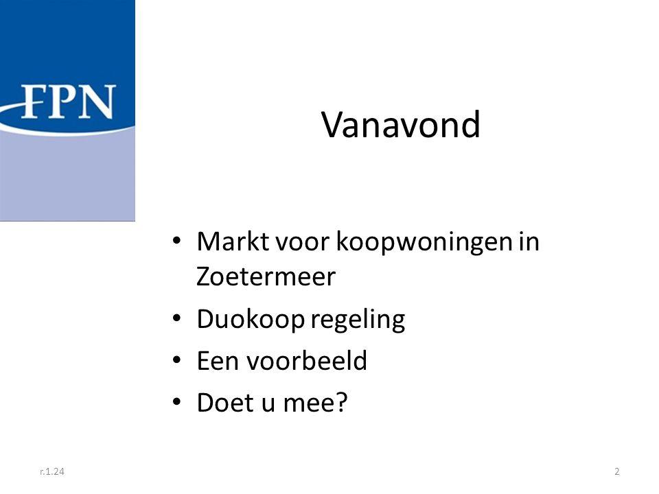Vanavond Markt voor koopwoningen in Zoetermeer Duokoop regeling