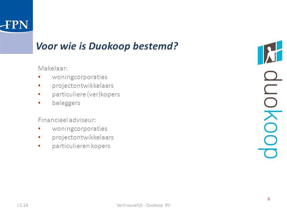 Vertrouwelijk - Duokoop BV