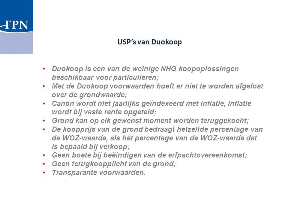 USP's van Duokoop Duokoop is een van de weinige NHG koopoplossingen beschikbaar voor particulieren;