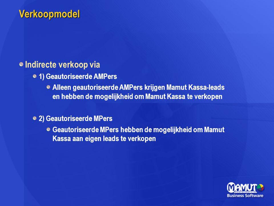 Verkoopmodel Indirecte verkoop via 1) Geautoriseerde AMPers