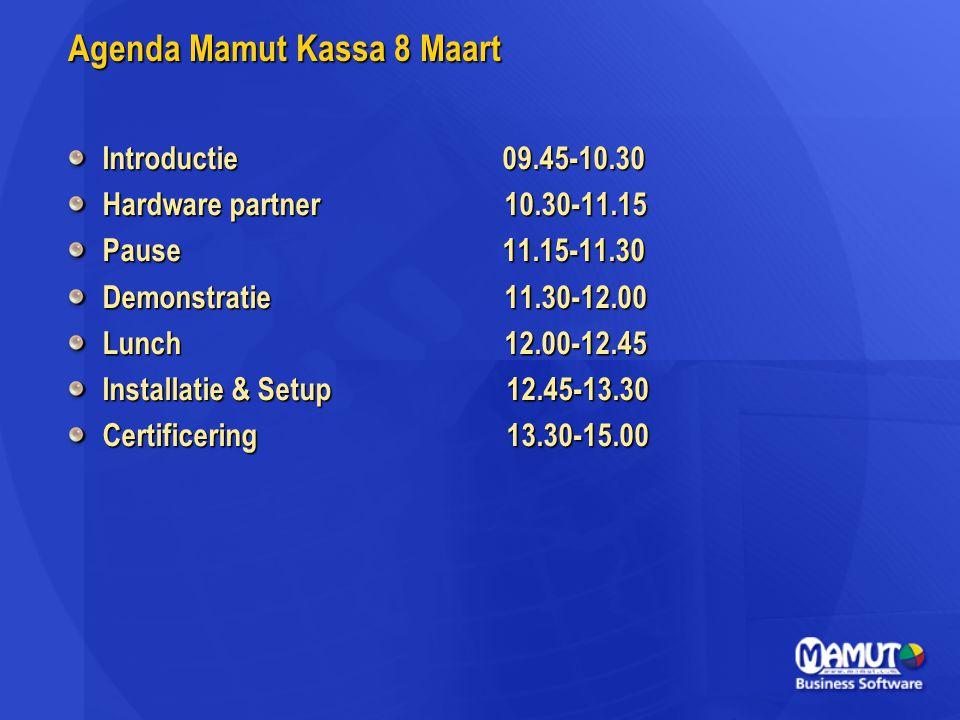 Agenda Mamut Kassa 8 Maart