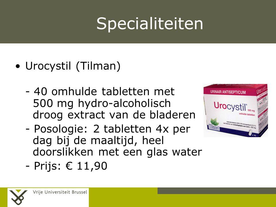 Specialiteiten Urocystil (Tilman)