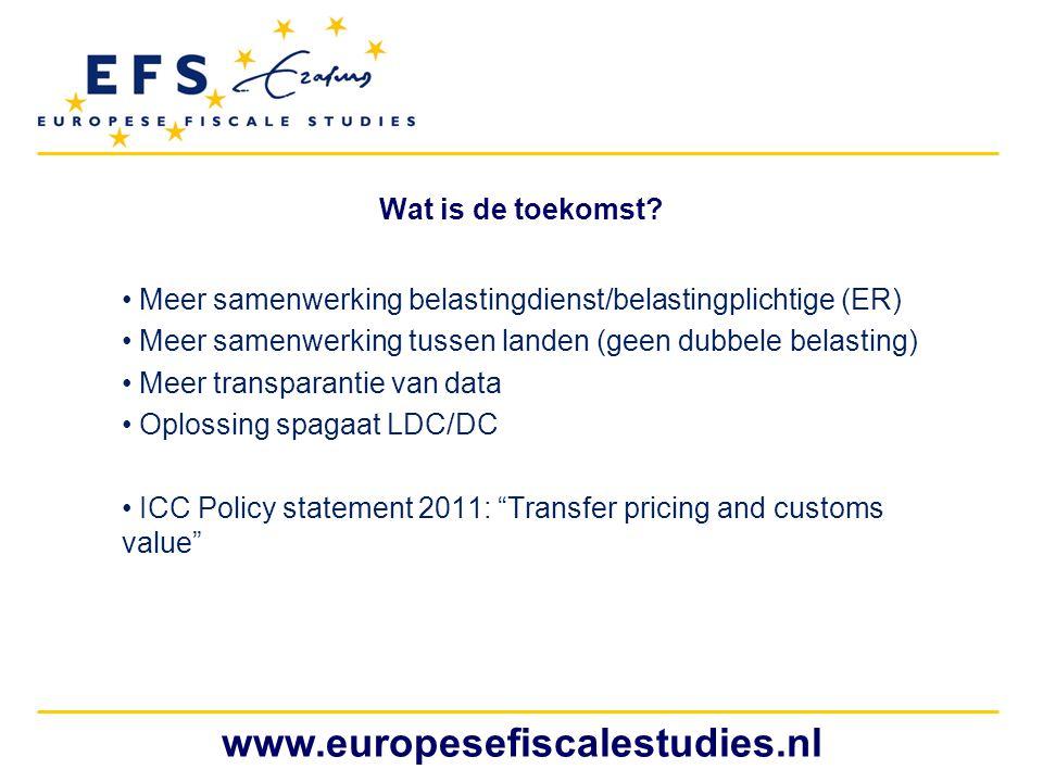www.europesefiscalestudies.nl Wat is de toekomst
