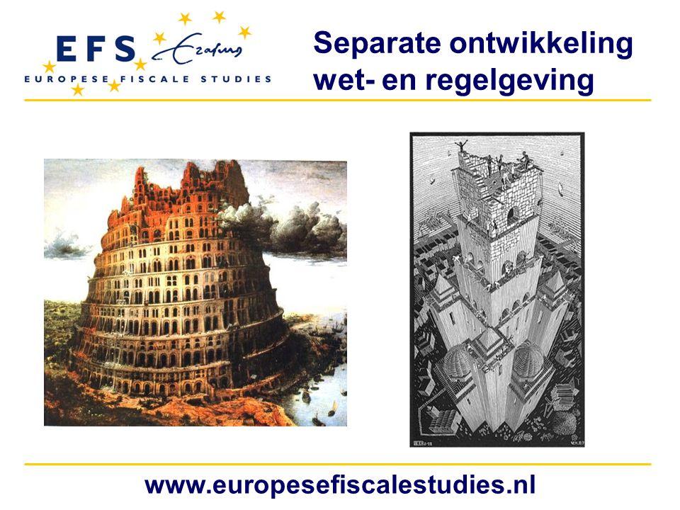 Separate ontwikkeling wet- en regelgeving