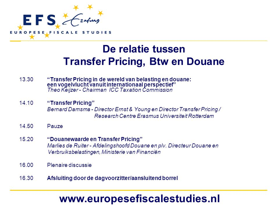 De relatie tussen Transfer Pricing, Btw en Douane