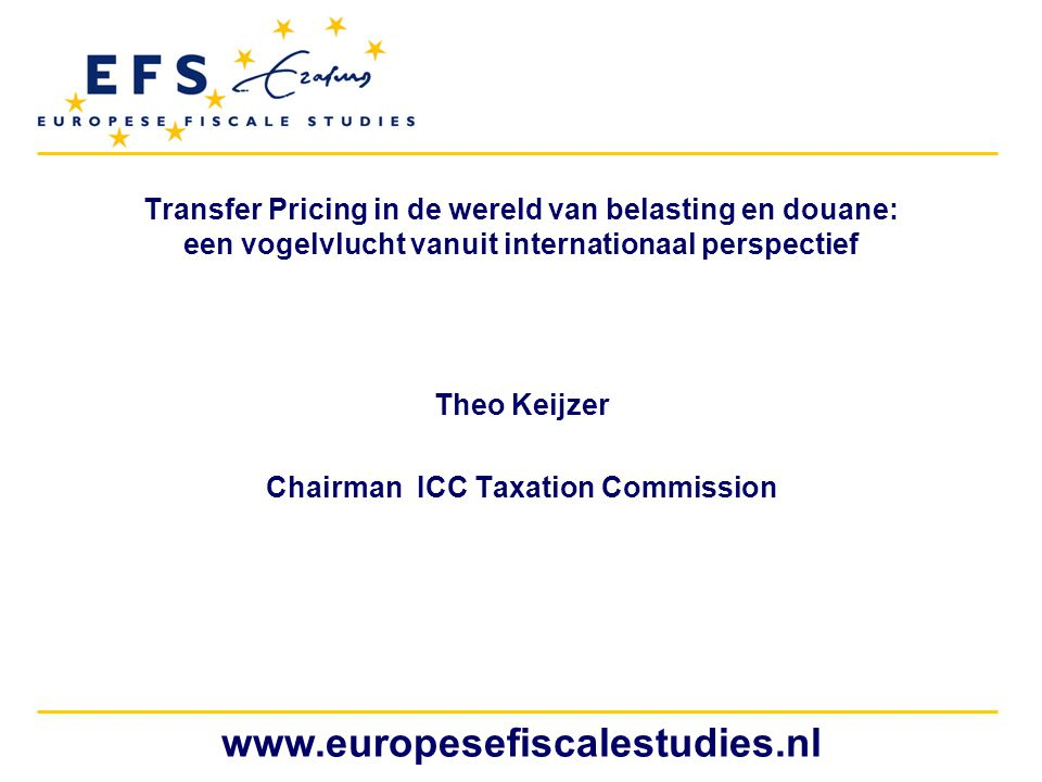 Theo Keijzer Chairman ICC Taxation Commission