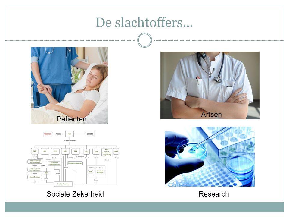 De slachtoffers… Artsen Patiënten Sociale Zekerheid Research