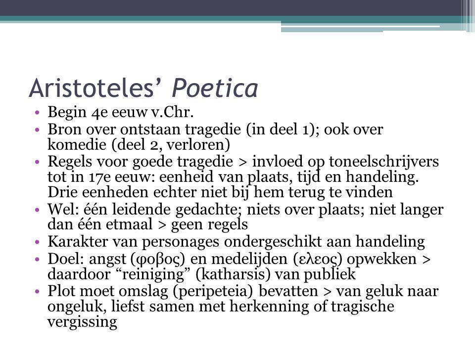 Aristoteles' Poetica Begin 4e eeuw v.Chr.