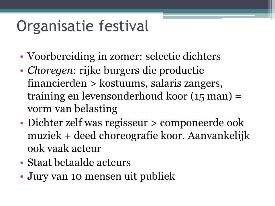 Organisatie festival Voorbereiding in zomer: selectie dichters