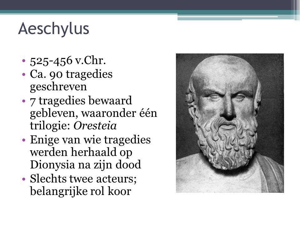 Aeschylus 525-456 v.Chr. Ca. 90 tragedies geschreven