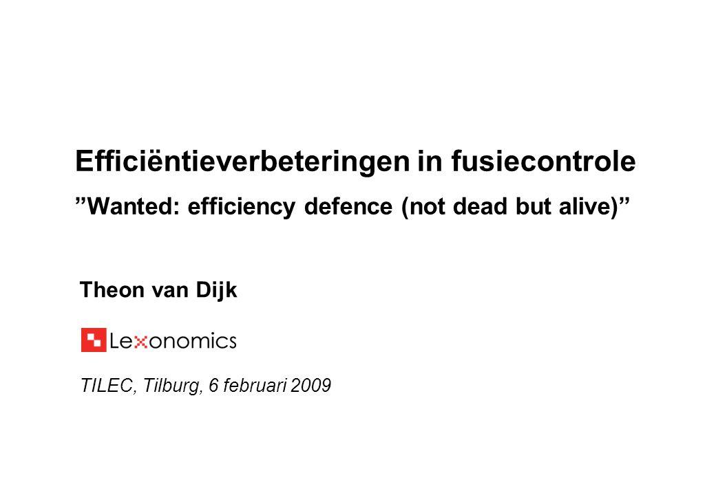 Theon van Dijk TILEC, Tilburg, 6 februari 2009