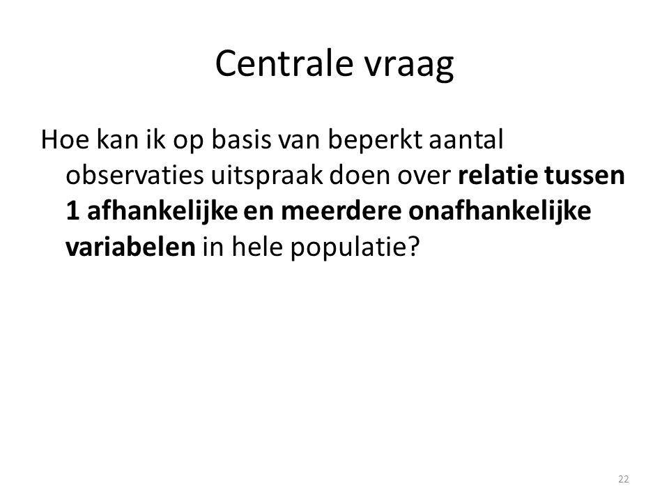 Centrale vraag