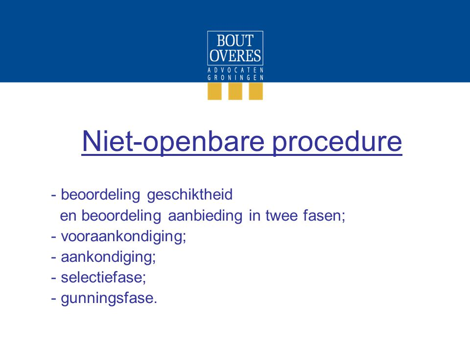 Niet-openbare procedure