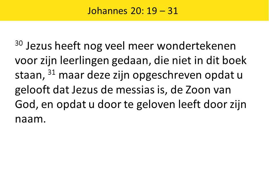 Johannes 20: 19 – 31
