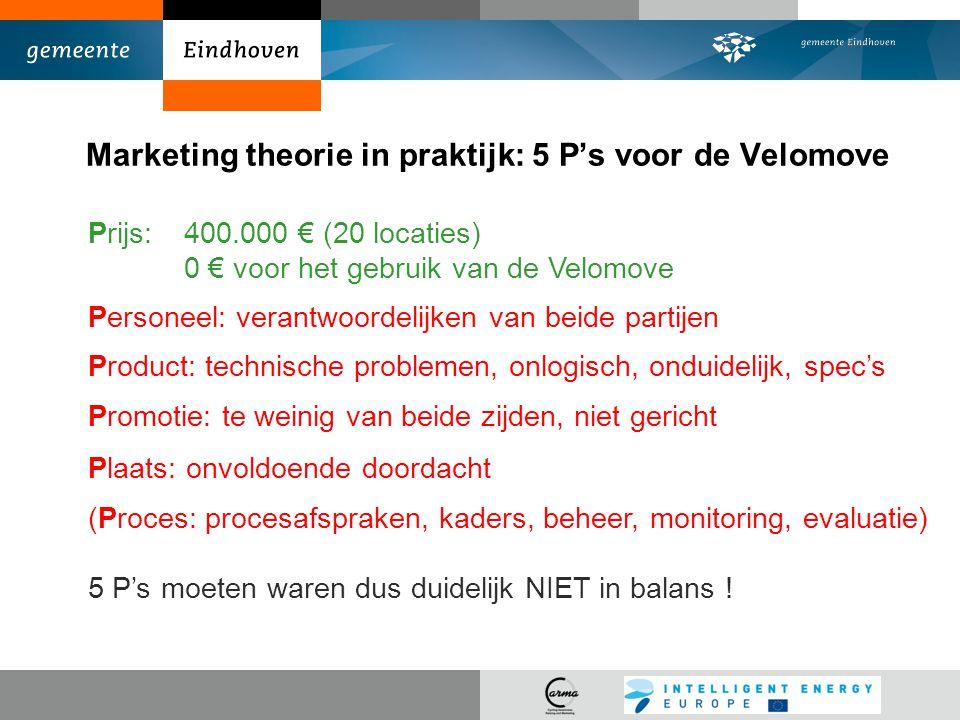 Marketing theorie in praktijk: 5 P's voor de Velomove