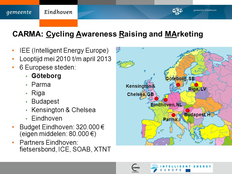 CARMA: Cycling Awareness Raising and MArketing