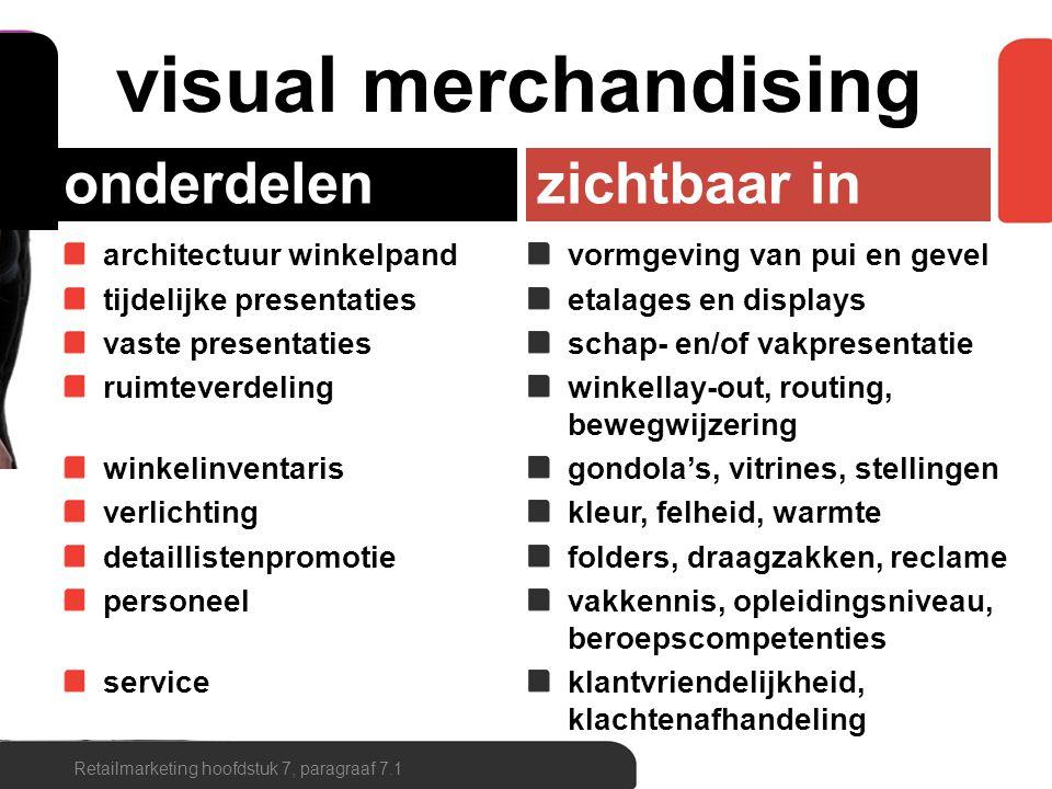 Retailmarketing hoofdstuk 7, paragraaf 7.1