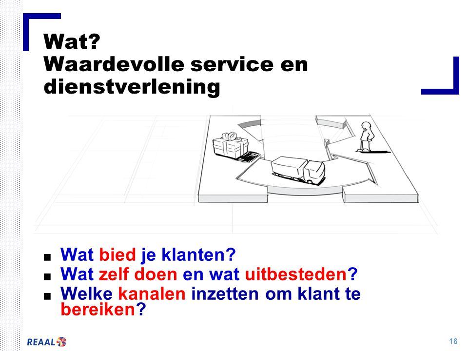 Wat Waardevolle service en dienstverlening